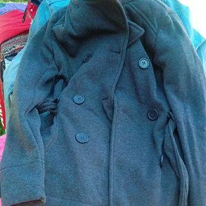 Jackets & Blazers - Grey peacoat